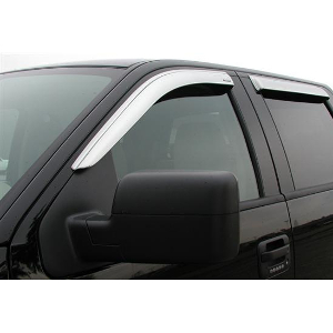 Stampede Rain Guards - Chrome