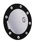 Black Ring - Chrome Door - Locking