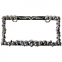 Bully License Plate Frame - Skulls