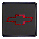 Bully - Chevy Bow Tie Hitch Cover - Front View