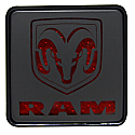 Bully - Hitch Brake Light Cover - Dodge - front view