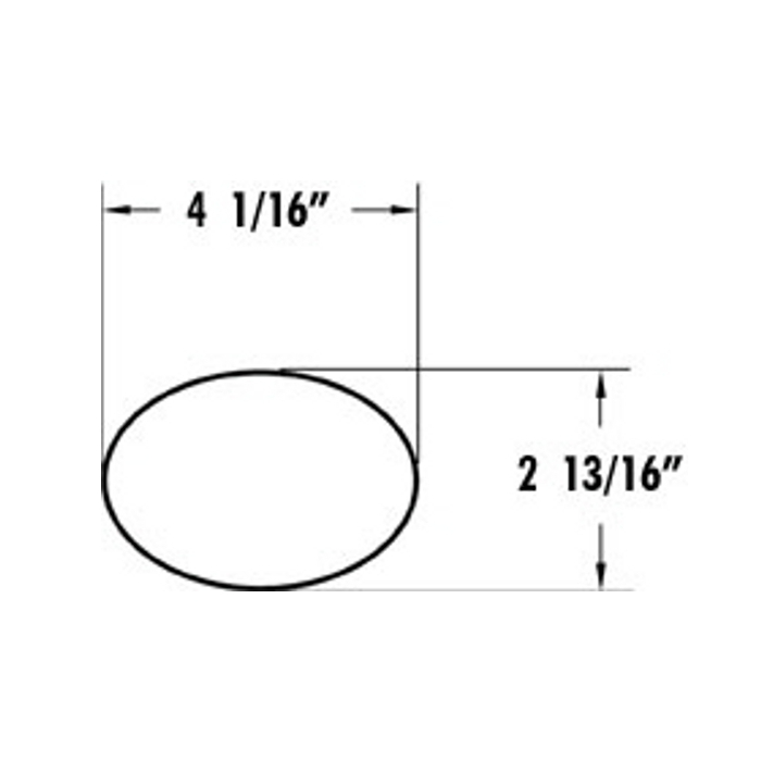 Luverne - 4 Inch Oval Stainless Steel Nerf Bars - Diagram