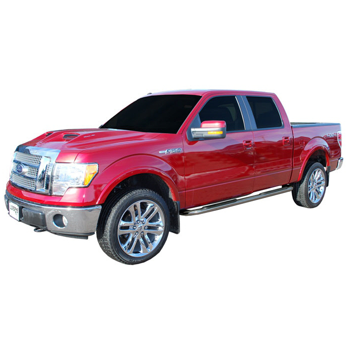 Luverne - 4 Inch Oval Stainless Steel Nerf Bars - Ford F150 Super Crew