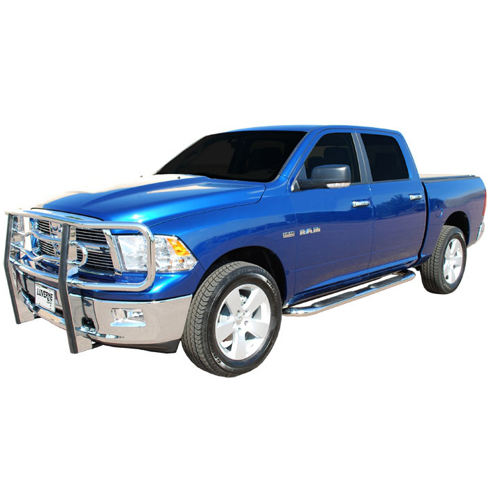 Luverne - 4 Inch Oval Stainless Steel Nerf Bars  - Dodge Ram