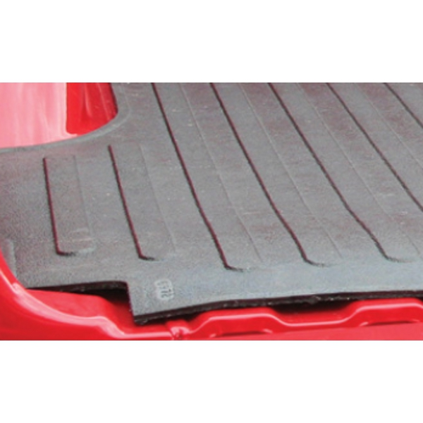 Close up of heavy duty rubber bed mat