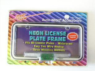 Neon License Plate Frame - Blue - CLEARANCE