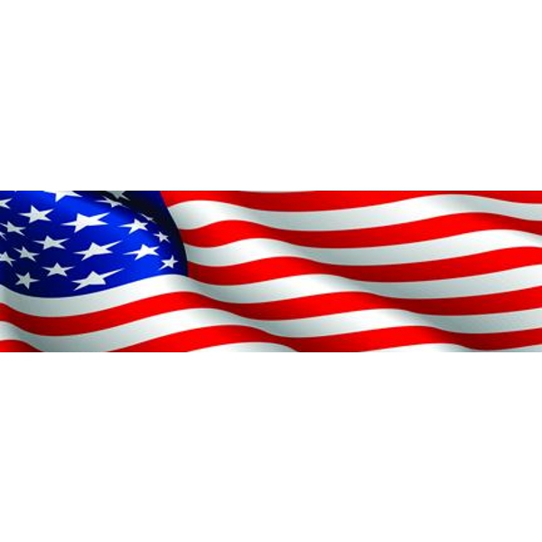 Vantage Point - American Flag - Rear Window Graphic