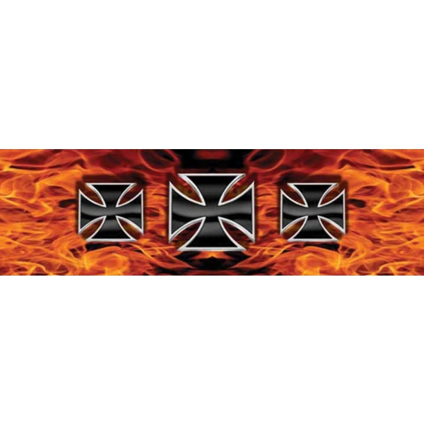 Vantage Point - Iron Crosses - Flames - Rear Window Graphic