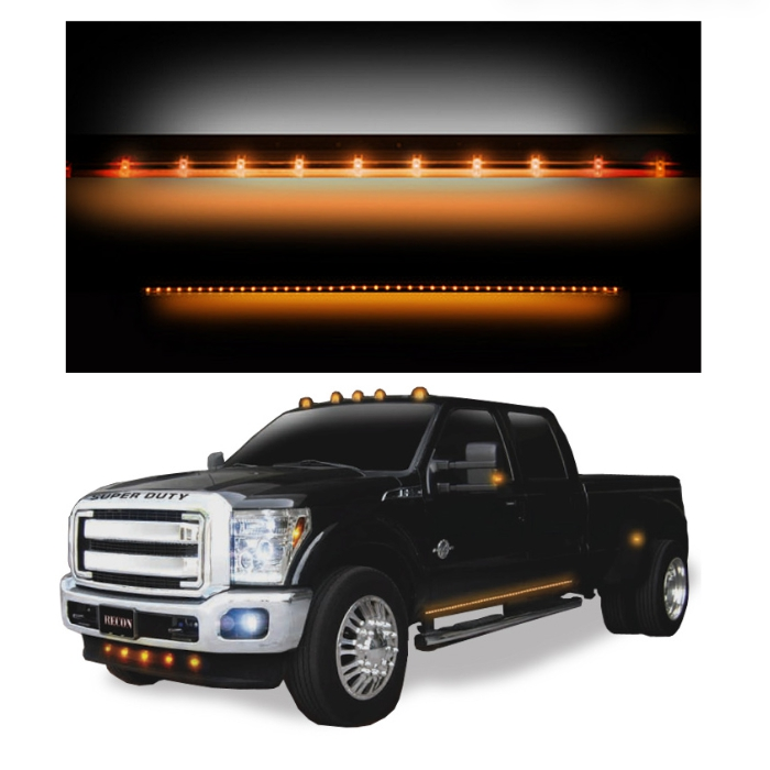 Recon BIG RIG Amber LED Running Light Bars - 26414X