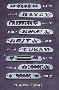 All Sales Third Brake Light Covers - 1997 - 2011 Dodge Dakota