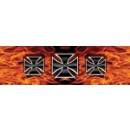 Vantage Point - Iron Crosses - Flames - Rear Window Graphic