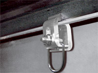 Tight Bite Clamps with Tie Down Rings